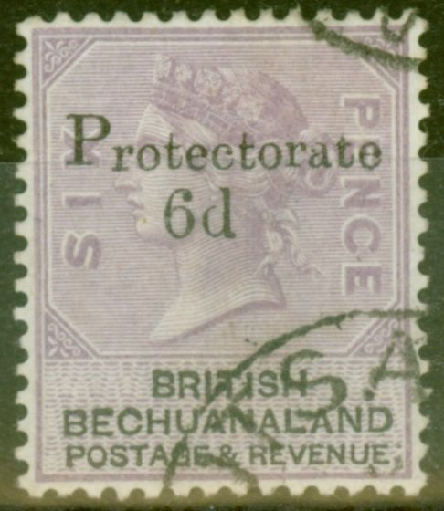 Rare Postage Stamp from Bechuanaland 1888 6d on 6d Lilac & Black SG45 Superb Used