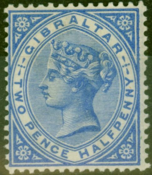 Collectible Postage Stamp from Gibraltar 1886 2 1/2d Blue SG11 Fine Very Lightly Mtd Mint