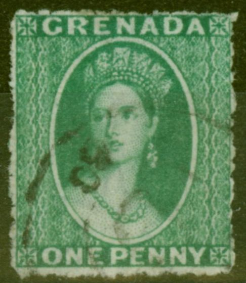 Valuable Postage Stamp from Grenada 1863 1d Yellowish Green SG5 Fine Used