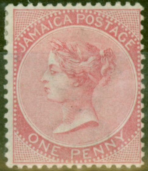 Valuable Postage Stamp from Jamaica 1885 1d Rose SG18 Good Mtd Mint