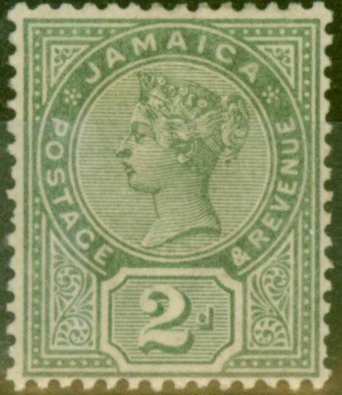 Valuable Postage Stamp from Jamaica 1889 2d Dp Green SG28a Fine Mtd Mint