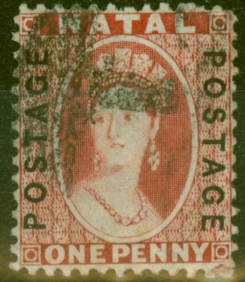 Collectible Postage Stamp from Natal 1870 SG60 1d Brt Red Fine Used