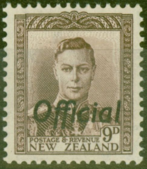 Old Postage Stamp from New Zealand 1947 9d Purple-Brown SG0156 V.F MNH
