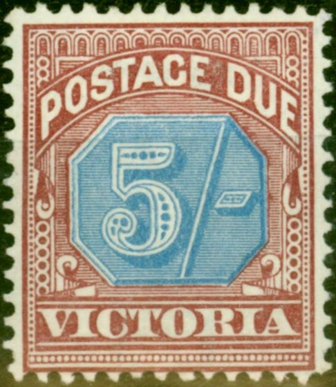 Collectible Postage Stamp from Victoria 1890 5s Dull Blue & Brown-Lake SGD10 Fine Mtd Mint (2)