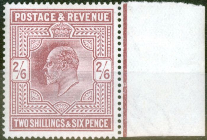 Valuable Postage Stamp from GB 1911 2s6d Dull Reddish Purple SG316 Fine Very Lightly Mtd Mint