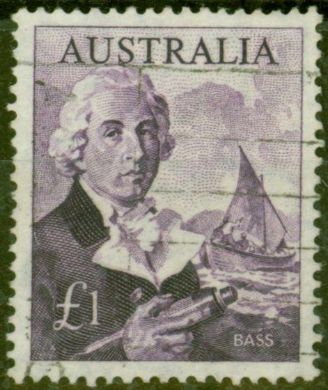 Rare Postage Stamp from Australia 1964 £1 Dp Reddish Violet SG359 Fine Used