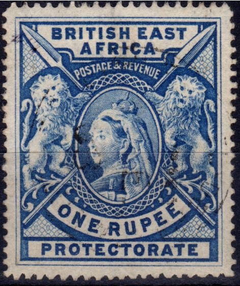Valuable Postage Stamp from B.E.A KUT 1903 1R Brt Ultramarine SG92b V.F.U example of this distinctive colour