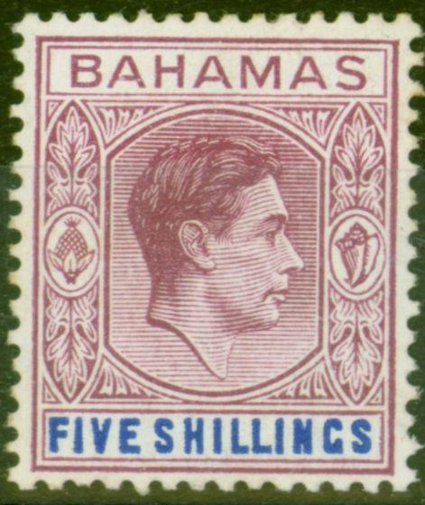 Bahamas 1946 5s Dull Mauve & Dp Blue SG156c Fine Very Lightly Mtd Mint