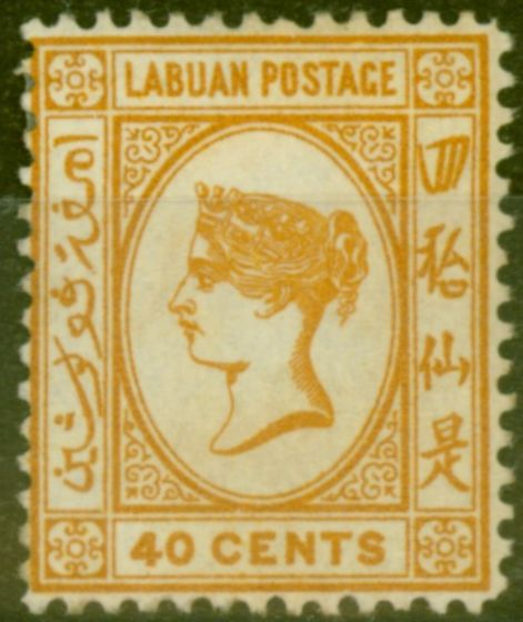 Rare Postage Stamp from Labuan 1893 40c Brown-Buff SG47a Fine Mtd Mint (24)