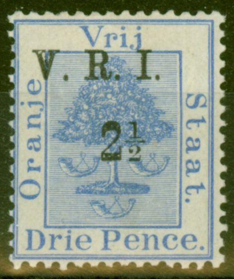 Collectible Postage Stamp from O.F.S 1900 2 1/2d on 3d Ultramarine SG105 Fine Mtd Mint