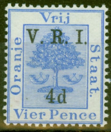 Collectible Postage Stamp from O.F.S 1900 4d on 4d Ultramarine SG107 Fine Mtd Mint