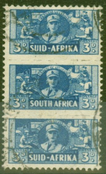Valuable Postage Stamp from South Africa 1942 3d Blue SG101 Fine Used