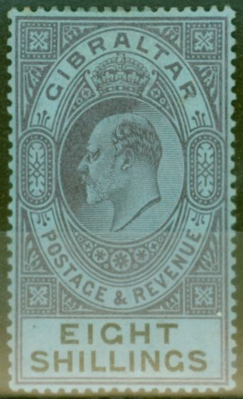 Collectible Postage Stamp from Gibraltar 1903 8s Dull Purple & Black-Blue SG54 Fine Mtd Mint (4)