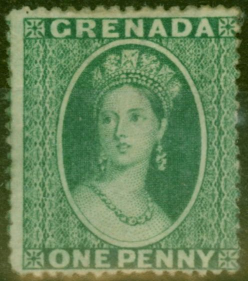 Collectible Postage Stamp from Grenada 1863 1d Yellowish Green SG5 Fine Lightly Mtd Mint