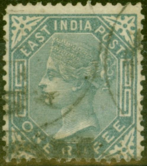 Old Postage Stamp from India 1874 1R Slate SG79 Ave Used