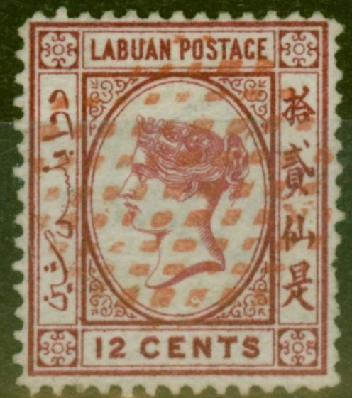 Valuable Postage Stamp from Labuan 1879 12c Carmine SG3 Fresh Fine Used Scarce