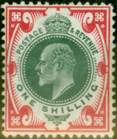 GB 1902 1s Dull Green & Carmine SG257 Good Mtd Mint