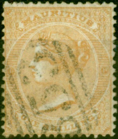 Mauritius 1862 1s Buff SG52 Fine Used (2)