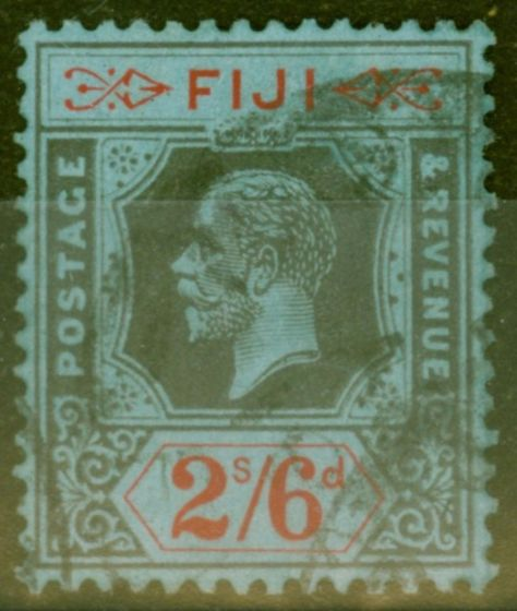 Valuable Postage Stamp from Fiji 1925 2s6d Black & Red-Blue SG240 Fine Used