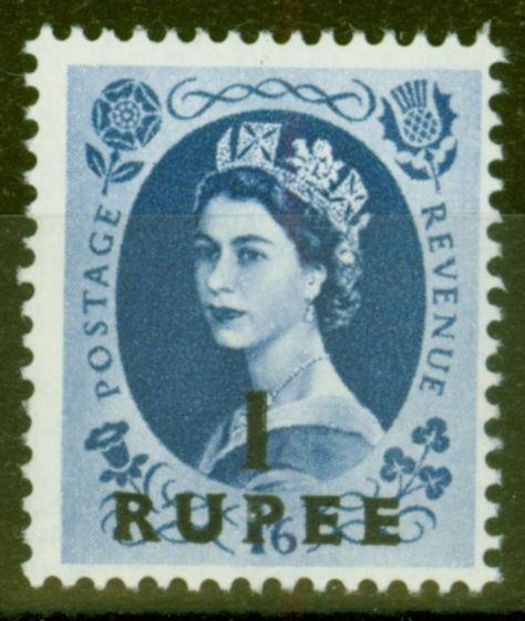 Collectible Postage Stamp from B.P.A in Eastern Arabia 1961 1R on 1s6d Grey-Blue SG91 V.F Very Lightly Mtd Mint