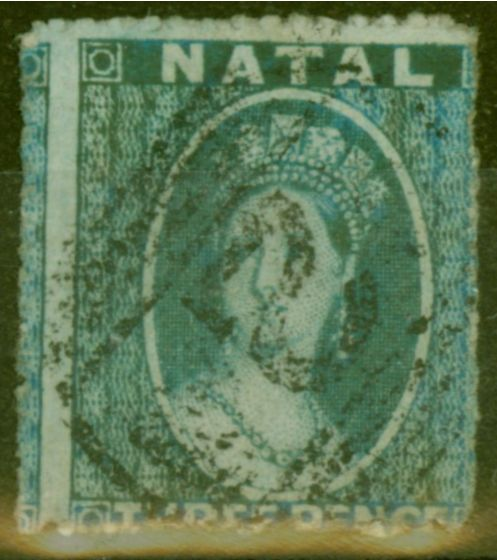 Collectible Postage Stamp from Natal 1861 3d Blue SG12 Fine Used