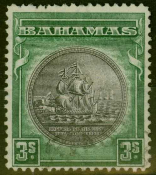 Collectible Postage Stamp from Bahamas 1931 3s Slate-Purple & Steel Blue SG132 V.F.U