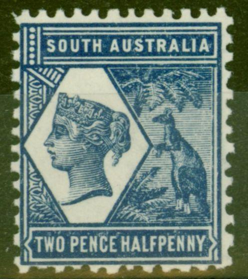 Old Postage Stamp from South Australia 1906 2 1/2d Indigo SG239 V.F Very Lightly Mtd Mint