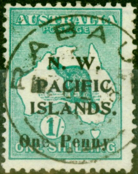 New Guinea 1918 1d on 1s Green SG101 Fine Used