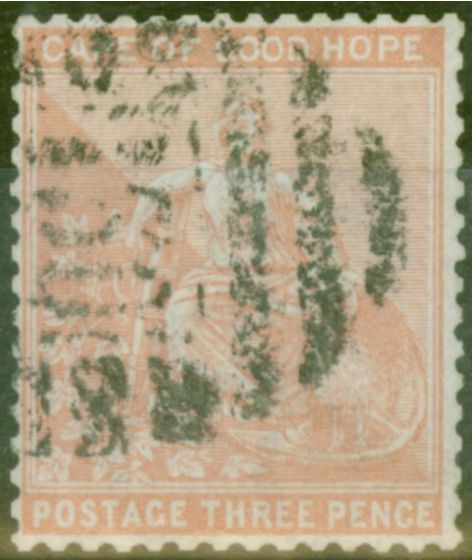 Rare Postage Stamp from Cape of Good Hope 1880 3d Pale Dull Rose SG36 Fine Used