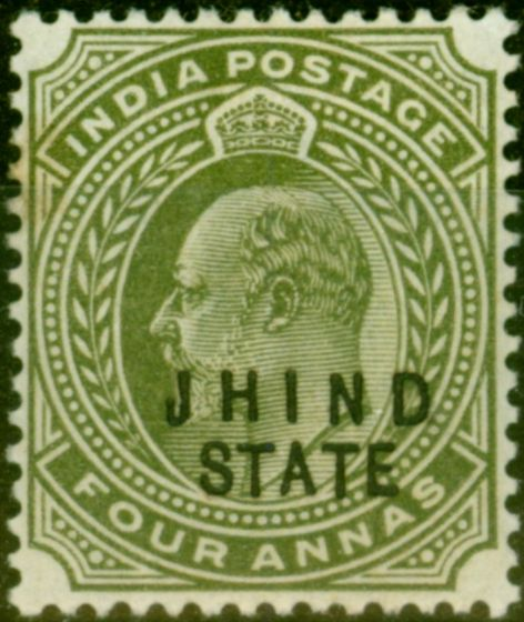 Jind 1903 4a Olive SG49 Fine Mtd Mint