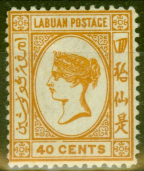 Old Postage Stamp from Labuan 1893 40c Brown-Buff SG47a Fine Mtd Mint (19)
