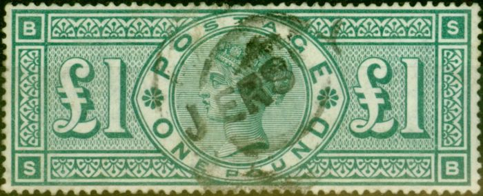 GB 1891 £1 Green SG212 Fine Used