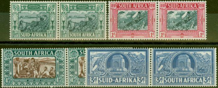 Rare Postage Stamp from South Africa 1938 Voortrekker set of 4 SG76-79 V.F Lightly Mtd Mint
