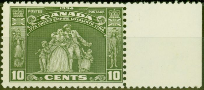 Collectible Postage Stamp from Canada 1934 10c Olive-Green SG333 V.F Very Lightly Mtd Mint
