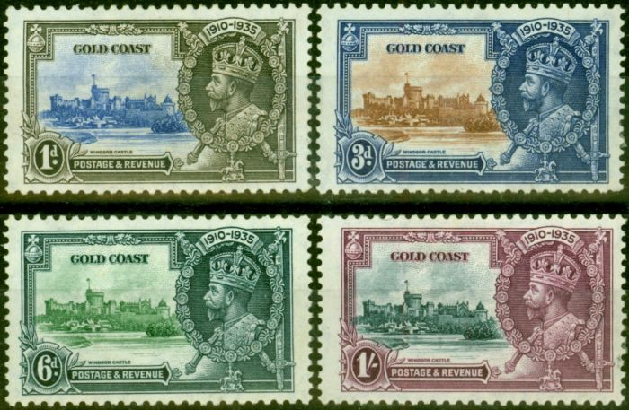 Valuable Postage Stamp from Gold Coast 1935 Jubilee Set of 4 SG113-116 Fine Mtd Mint Stamp