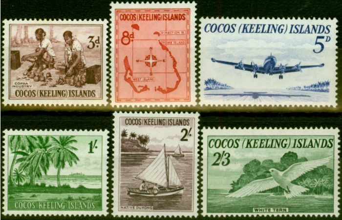 Rare Postage Stamp from Cocos Islands 1963 Set of 6 SG1-6 Very Fine MNH