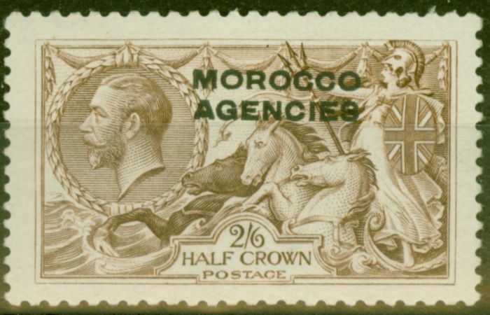 Valuable Postage Stamp from Morocco Agencies 1918 2s6d Chocolate-Brown SG53 B.W Fine Mtd Mint