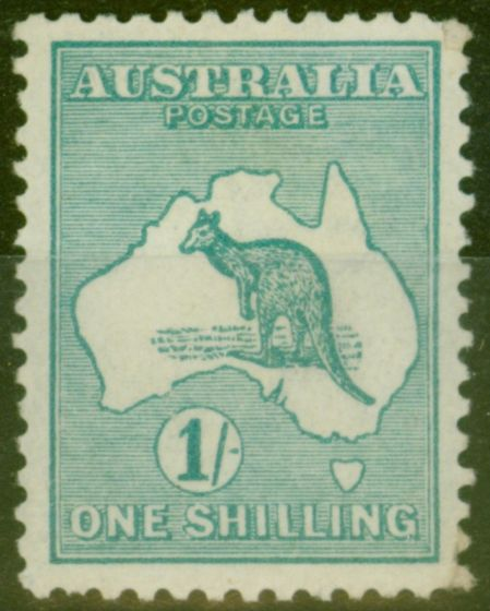 Valuable Postage Stamp from Australia 1915 1s Blue-Green SG28 Die II Fresh Lightly Mtd MInt