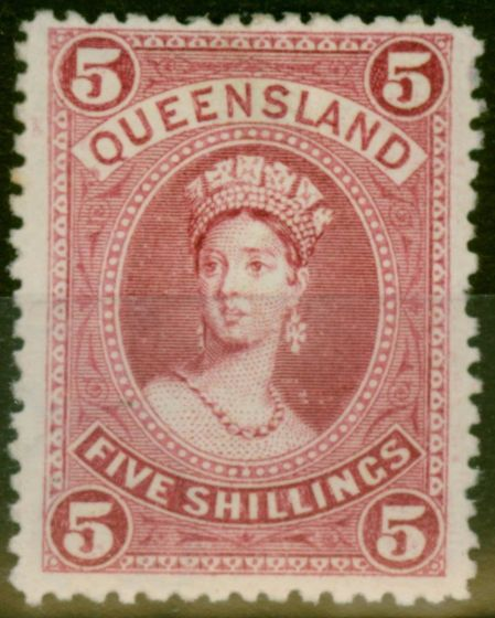 Collectible Postage Stamp from Queensland 1906 5s Rose SG2734 Fine Mtd Mint