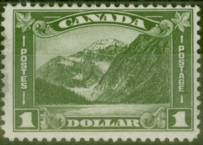 Old Postage Stamp from Canada 1930 $1 Olive-Green SG303 Fine Mtd Mint