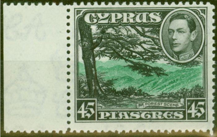 Valuable Postage Stamp from Cyprus 1938 45pi Green & Black SG161 V.F Lightly Mtd Mint