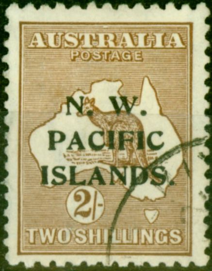 New Guinea 1919 2s Brown SG115 Very Fine Used