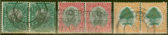 Collectible Postage Stamp from South Africa 1926 set of 3 SG30-32 Fine Used