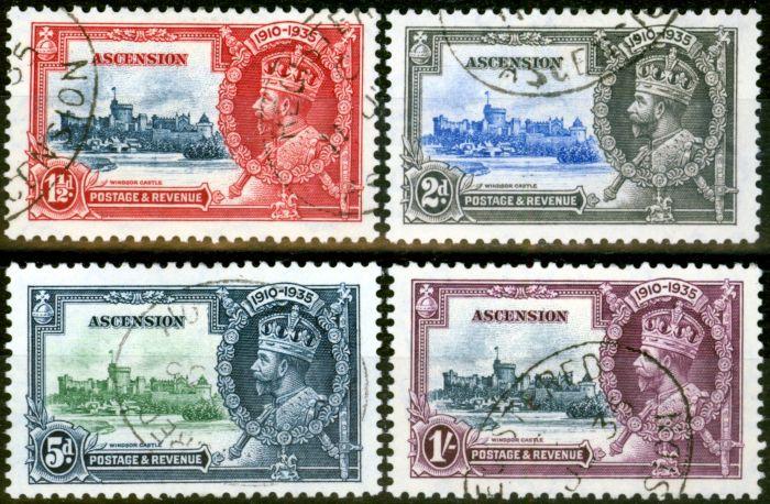Rare Postage Stamp from Ascension 1935 Jubilee Set of 4 SG31-34 V.F.U