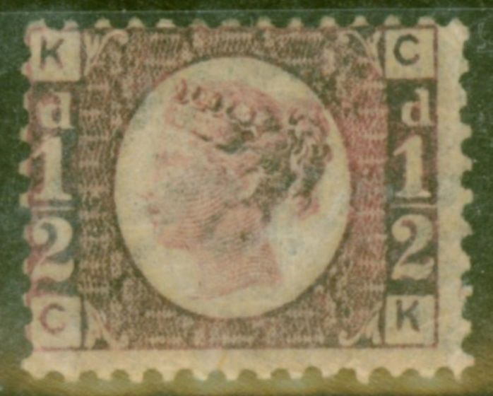 Collectible Postage Stamp from GB 1870 1/2d Rose-Red Bantam SG49 Pl 3 Fine & Fresh Lightly Mtd Mint