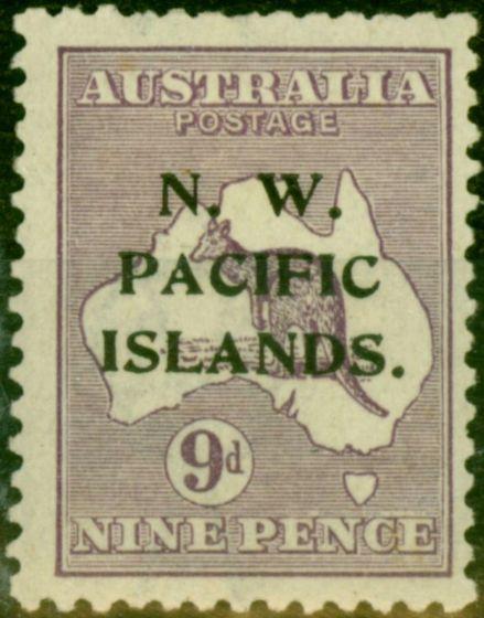 New Guinea 1919 9d Violet SG112 Fine Mounted Mint
