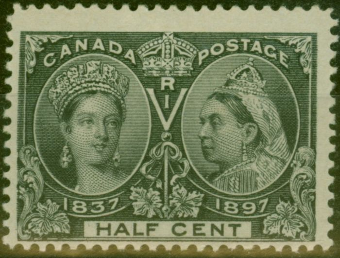 Old Postage Stamp from Canada 1897 1/2c Black SG121 Fine Mtd Mint
