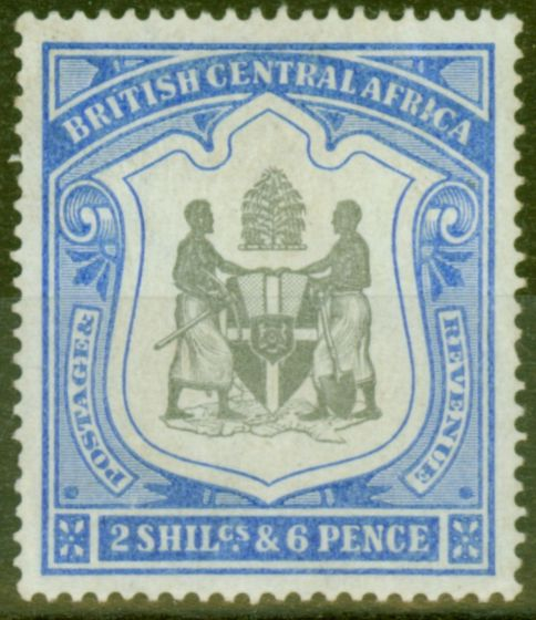Valuable Postage Stamp from B.C.A Nyasaland 1897 2s6d Black & Ultramarine SG48 Fine Very Lightly Mtd Mint