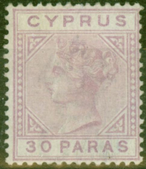Valuable Postage Stamp from Cyprus 1882 30pa Pale Mauve SG17 Ave Mtd Mint