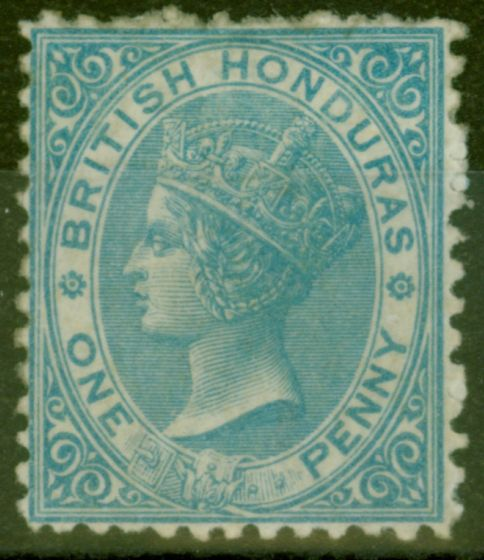 Rare Postage Stamp from British Honduras 1872 1d Pale Blue SG5 Fine Mtd Mint